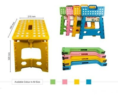 Large Heavy Duty Size Plastic Step Stool Foldable Multi Purpose Home Kitchen Use