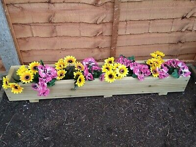 Single Height Wooden Decking Planter/Trough Various Sizes