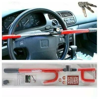 Universal Steering Wheel Lock Metal Car Theft Security Clamp Hook Crook Bar 17C