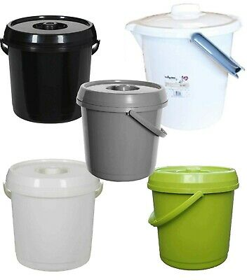 NEW 14 OR 16 Litre Nappy Bucket with Lid Handle Plastic Storage Bin For Kids