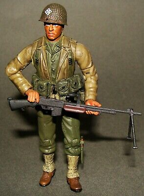 D-DAY NORMANDY 1944 ARMY ACTION FIGURE 1:18 10cm lot of 4 BBI ELITE FORCE WWII