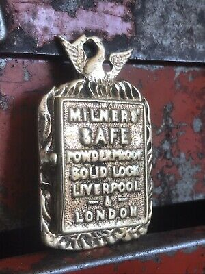 Bi Vintage Solid brass / bronze milners safe key hole Sign Key Cover Escutcheon