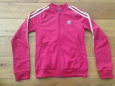 Girls Pink Adidas Jacket Age 9-10yrs
