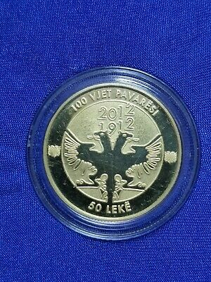 50 LEK Commemorative Coin 100th Anniversary of Independence Albania 1912-2012