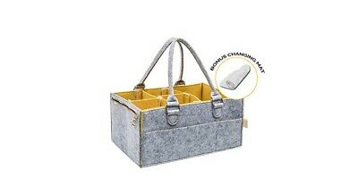 Portable Baby Diaper Caddy : Changing Table Organizer with Spacious Pockets...