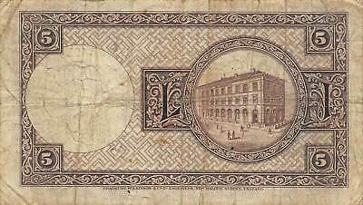 Iceland  5  Kronur  L. 15.4.1928  P 32  Series A  Circulated Banknote SS4
