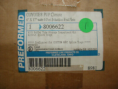 "Preformed Coyote PUP Closure 8006622 6"" x 17"" for Splices"