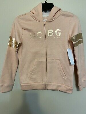 Girls BCBG New With Tags Lightweight,soft Peach Hoodie, Size 8-10