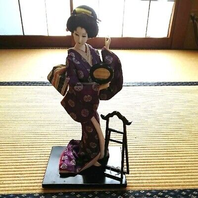 Japanese doll With glass case Traditional Japanese handicrafts Kimono Antique