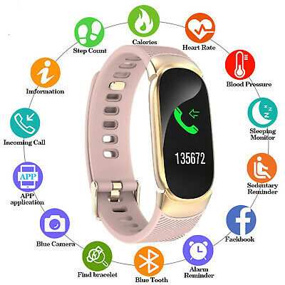 Smart Watch Bracelet Fitness Tracker Step Counter Pedometer Calorie Heart Rate