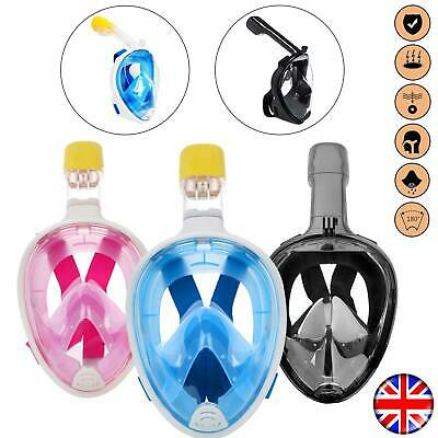 Anti-Fog Swimming Diving Full Face Mask Surface Snorkel Set Scuba Mask for GoPro