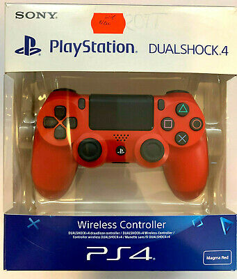 NEU Sony PlayStation 4 DualShock4 Wireless Controller Rot In OVP Magma red