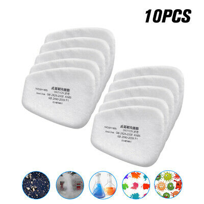 10pcs/set 5N11 Cotton Filter Replacement Filters For 6200 6800 7502 Respirator