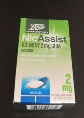 Boots NicAssist 2mg Gum - icy mint 105 pieces