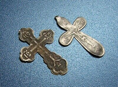 Ancient Silver Crosses. Royal Russia. Rare. Original