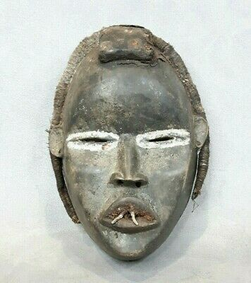 Antique Hand Carved Wooden African Tribal Face Mask Tribal Art