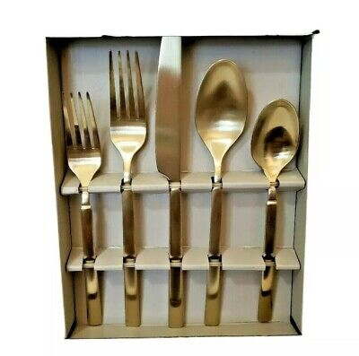 Stainless 20pc Service for 4 NEW Lorena Flatware MAIT 20-piece Silverware Set