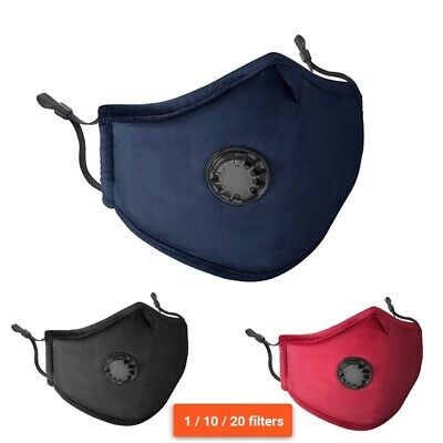 Washable Velvet Fabric Face Mask Reusable for Men Women Cloth PM2.5 Mask