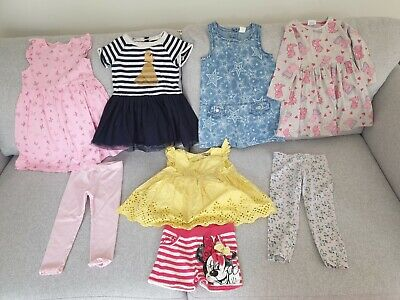 Girl's NEXT, George, H&M, babyGAP, Disney Summer Clothes Bundle Age 2 - 3 Years