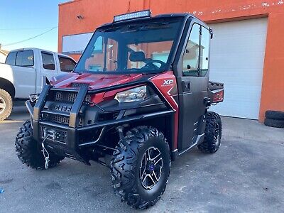 Enclosed HEATED POLARIS RANGER XP900, EPS, Brand new Tires, Winch, Plow LOADED,