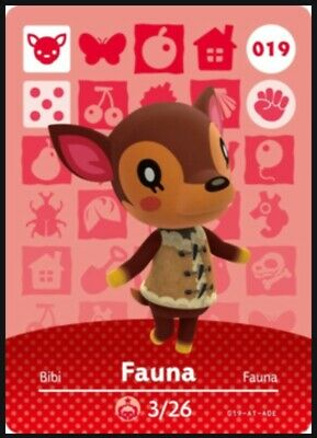 Animal Crossing: New Horizons Amiibo Fauna #19 (Series 1) NFC Tag