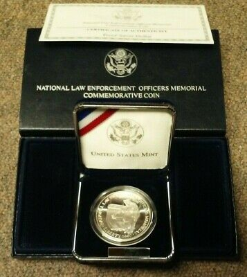 1997 National Law Enforcement Officers Memorial Proof Silver Dollar Coin
