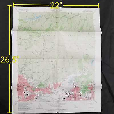 Vintage 1966 United States Geological Survey Azusa California Topographic Map