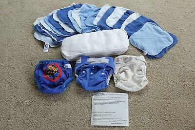 Set of Kawaii One Size Adjustable Pocket Cloth Diaper 8-36lb w/inserts +XTRAS