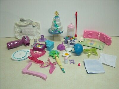 Barbie Doll House Furniture, Cake, Table, stand, Pillow, Kitchen accessories lot