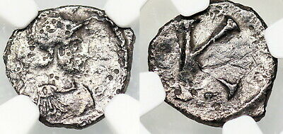 Byzantine anonymous issue from Constantinople...scripulum with K reverse...NGC