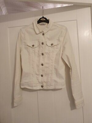 Girls white denim jacket from george age 11 12 years