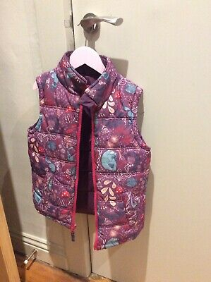 Fat Face Girls Reversible Purple & Pink Padded Gilet Bodywarmer Size 6-7 Years