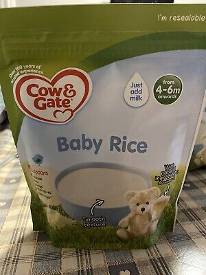 Cow & Gate 4 X Baby Rice 100g Pouches 4-6months New