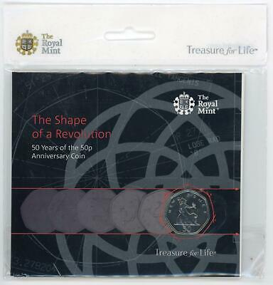 Royal Mint 2019 The Shape of a Revolution 50 Years of the 50p Anniv Coin