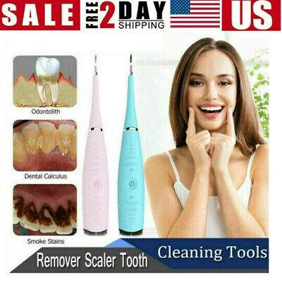 USB Ultrasonic Scaler Electric Tooth Cleaner Dental Calculus Stain Remover Tool