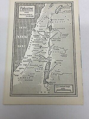 Map Of Palestine In The Old Testament Times The Twelve Tribes Of Judah