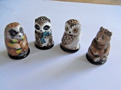 Porzellan Fingerhut Friends of the Forest / IGEL / Thimble Collection 1982