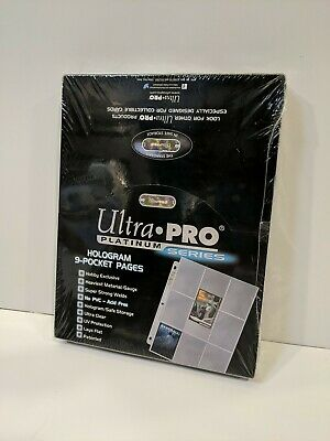 Ultra Pro Platinum Series Hologram 9 Pocket Pages Pack Of 100 Pages