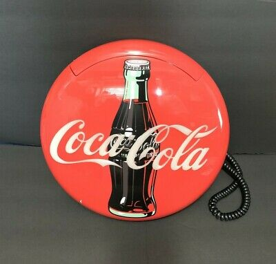 Vintage Coca Cola Retro Corded Stand Up or Wall Mount Telephone red 1995 WORKING