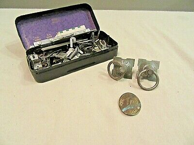 Vintage Sewing Machine Attachments Singer Drawer Pulls and Brass Tag