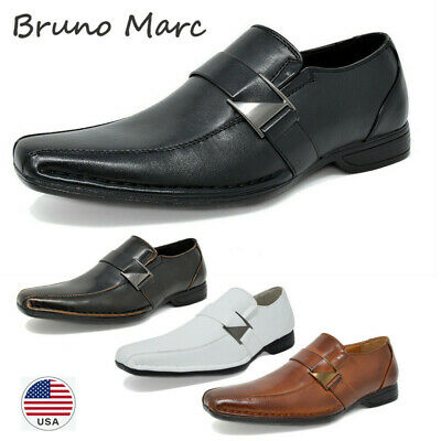 Bruno MARC Men's Loafers Dress Classic Square Toe Formal Oxfords Slip On Shoes