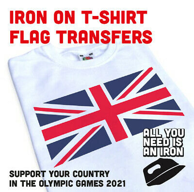 Iron  Flag TShirt Transfer, Create Your Own Tshirt, Olympic Games 2021