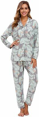 Pajamas for Women Pjs Set Button Down Long Sleeve Sleepwear Nightwear Sz XL