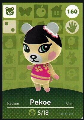 Animal Crossing: New Horizons Amiibo Pekoe #160 (Series 2) NFC Tag