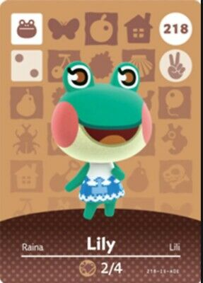 Animal Crossing: New Horizons Amiibo Lily #218 (Series 3) NFC Tag