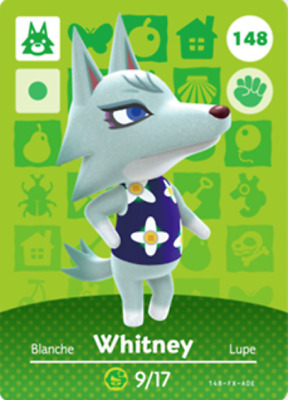 Animal Crossing: New Horizons Amiibo Whitney #148 (Series 2) NFC Tag