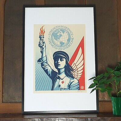 Shepard Fairey (OBEY) - Angel of Hope and Strength - S/N/550 - 2020