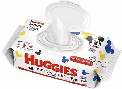 NEW Huggies Disney Baby Simply Clean Fragrance Free Baby Wipes 64 Count
