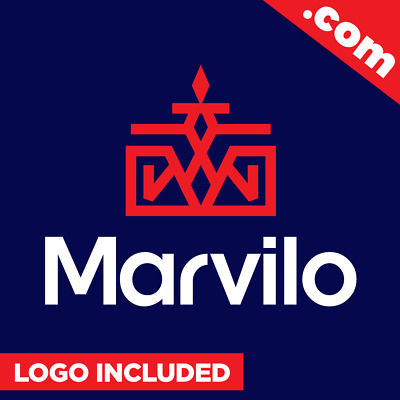 Marvilo.com - Cool brandable domain name for sale Godaddy PREMIUM LOGO One Word