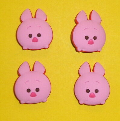 Piglet x4  Shoe Charms Clogs Accessories Cake Toppers  auction